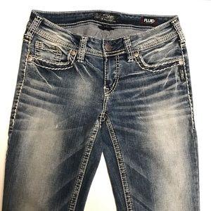 Silver Aiko Fluid denim jeans